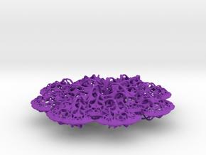 3D fractal: 'Woven Flower' in Purple Processed Versatile Plastic