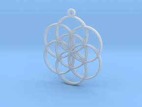 Seed of Life Pendant in Smooth Fine Detail Plastic