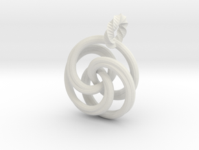 pendant twirl in White Natural Versatile Plastic