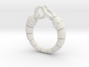Robot arm Ring in White Strong & Flexible