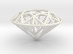 Big Diamond in White Natural Versatile Plastic