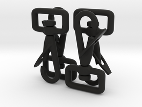 Clip Hooks with rotating webbing band. in Black Strong & Flexible