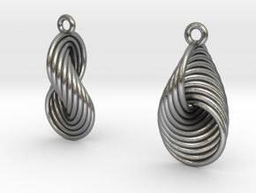 Eardrops IV - Hopf (S) in Natural Silver