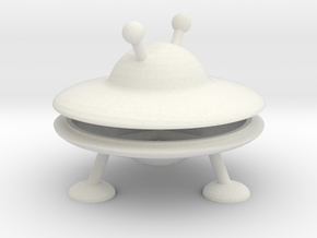 Mini UFO  in White Strong & Flexible