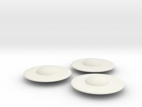 R-Rocket UFO 004 Small in White Natural Versatile Plastic