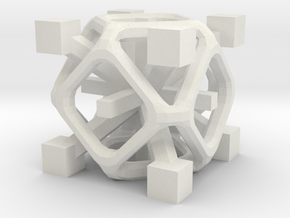 Complex 2-8 cube in White Natural Versatile Plastic