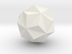 tron neutral alternate first stellated icosohedron in White Strong & Flexible