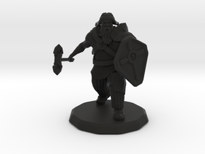 Dwarf Fighter (Large) in Black Strong & Flexible