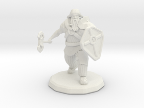 Dwarf Fighter (Large) in White Natural Versatile Plastic