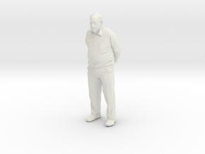 Grandpa 10cm Solid in White Natural Versatile Plastic