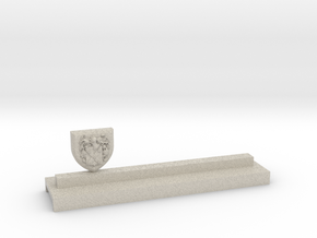 Knife holder with shield and coat of arms in Natural Sandstone