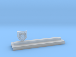 Knife holder with shield and coat of arms in Smooth Fine Detail Plastic