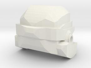 Sci-Fi Army Helmet in White Natural Versatile Plastic