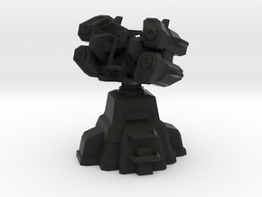 Air Defense Missile Turret  in Black Strong & Flexible