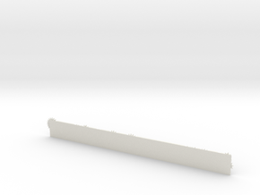 Gear Ruler in White Natural Versatile Plastic