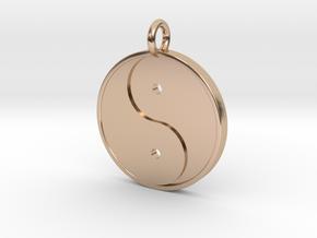 Yin Yang Pendant in 14k Rose Gold Plated Brass