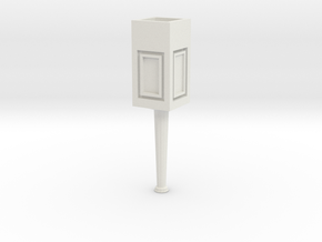 Concrete light post 1/32 in White Natural Versatile Plastic