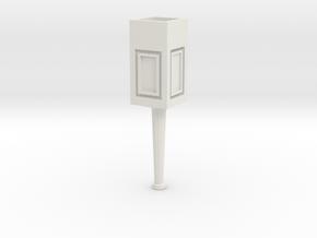 Concrete light post 1/32 in White Natural Versatile Plastic