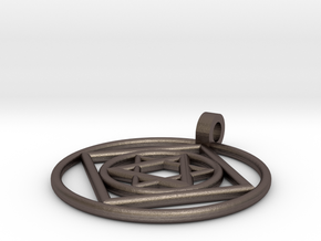 jacs necklace in Polished Bronzed Silver Steel