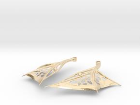 Wing Earrings - Fishhooks in 14K Yellow Gold