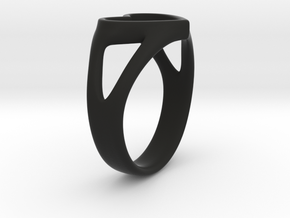 Caterina Heart ring in Black Strong & Flexible