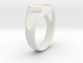 Silvia Heart ring in White Natural Versatile Plastic