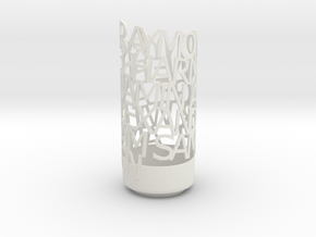 Light Poem verdana in White Natural Versatile Plastic