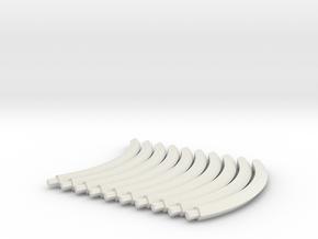 Red C curves in White Natural Versatile Plastic