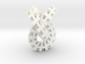 Escher knot small in White Strong & Flexible Polished