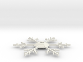 Snowflake in White Natural Versatile Plastic