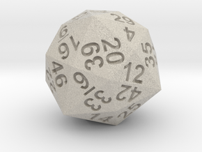 48-side dice in Sandstone