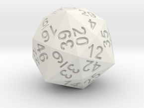 48-side dice in White Natural Versatile Plastic