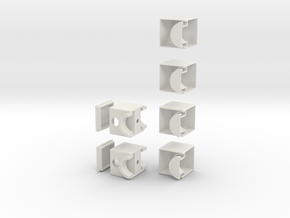 Minimis 1x2x3 in White Natural Versatile Plastic