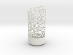 PI Light Poem in White Natural Versatile Plastic