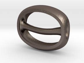 seeshell in Polished Bronzed Silver Steel