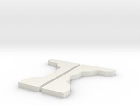 Turning Tool (2) in White Natural Versatile Plastic