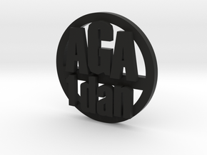 aga 1d coin in Black Strong & Flexible
