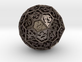 The Rosetta Dice #1 (60) in Polished Bronzed Silver Steel