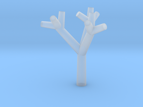Test Tree - Zscale - 0.5 inch in Smooth Fine Detail Plastic