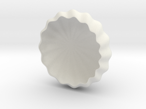 Rays Tea-Light Cover in White Natural Versatile Plastic