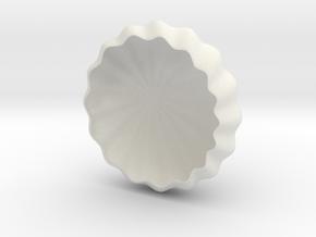Rays Tea-Light Cover in White Natural Versatile Plastic