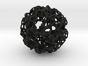 Tree Root Voronoi Sphere  in Black Strong & Flexible