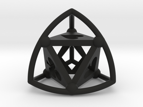 Tetrasphere (poker) in Black Strong & Flexible