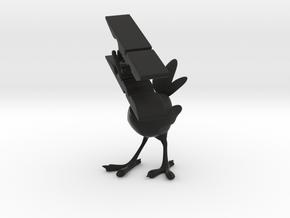 Clothespin Bird in Black Strong & Flexible