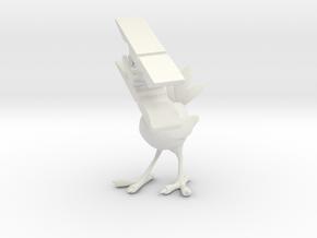 Clothespin Bird in White Natural Versatile Plastic