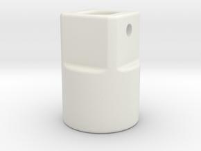 Motor-buis koppeling Shadow in White Natural Versatile Plastic
