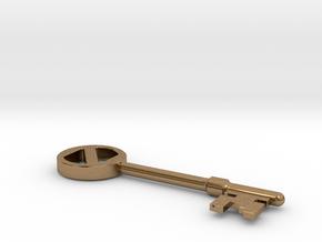 Oz key in Natural Brass