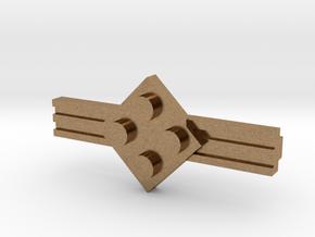 Brick Tie Clip-4 Stud in Natural Brass