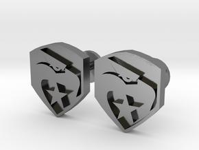 GI Joe logo cufflinks in Polished Silver