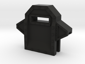 Wall Segment Center Gun Port in Black Strong & Flexible